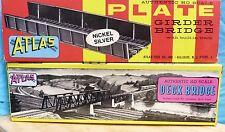 ATLAS HO SCALE: PLATE GRINDER BRIDGE & DECK BRIDGE MODEL KITS #885/ #884 - 5D