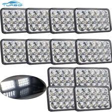 "4X6"" LED HID Cree Light Bulbs Crystal Clear Sealed Beam Headlamp Headlight 12PCS"