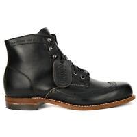 Wolverine Men's Evans 1000 Mile Wingtip Black Leather Boots W05344