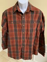 Duluth Trading Co Long Sleeve Button Front Plaid Flannel Shirt Mens Large