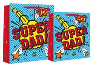 A Super Dad Gift Bag Birthday Fathers Day Dad Adult Male Present Gift