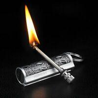Free Fire Metal Retro Match Lighter Flint Fire Starter Torch Kerosene Oil Flame