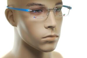 TAG Heuer Rahmenlose Reflex Titan TH3941 010 Herren Quadratisch Brille Blau
