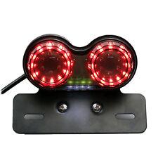1 MOTO LED Doble Dual Matrícula Trasera Freno Luz Direccional Integrado