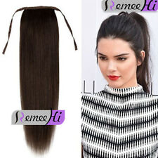 "16""-24""Dark Brown Straight High Ponytail Clip-in Hair Extensions 80g/100g/120g"