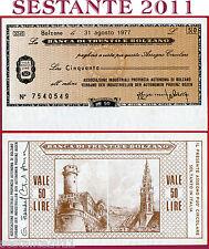 BANCA DI TRENTO E BOLZANO LIRE 50 31.8. 1977 ASSOCIAZIONE INDUSTRIALI  FDS B80