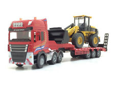1:50 Alloy Diecast Tractor Shovel + Semitrail Model Engineering Vehicle Toy Gift