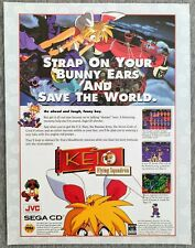 KEIO Flying Squadron Sega CD | 1995 Vintage Game Print Ad Poster Official Rare