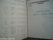 SCRITTURA_FILIGRANA_CARTA DA LETTERA_VERONA_FEDRIGONI_ALBUM CATALOGO_PUBBLICITA'