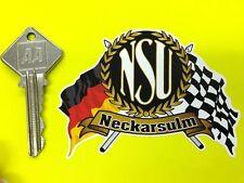 NSU bandiere e scorrere Auto Adesivo Ciclomotore SUPERMAX RO80