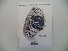 advertising Pubblicità 1998 SWATCH IRONY CHRONO SECRET AGENT