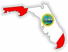 1x STICKER FLORIDA SILHOUETTE STATE decal USA MAP FLAG