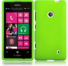 Nokia Lumia 521 Rubberized HARD Case Snap On Phone Cover Accessory Neon Green