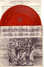 "7""JAPAN PROMO RED WAX FLEXI DISC BAY CITY ROLLERS TARTAN INTERVIEW SHEET McGLYNN"