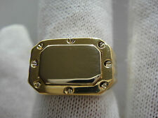 NEW SIGNED DOLAN/BULLOCK 14K SOLID GOLD HEAVY MEN'S RING SOLID CLOSED BACK SZ10