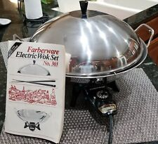 Farberware Electric Wok Skillet Model 303 with Manual