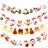 Christmas Party Decor Hanging Snowman Santa Claus Elk Sock Banner Decor Supplies