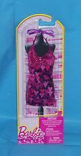 Barbie Pink and Black Heart  Halterneck Dress
