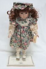 Gorgeous 1990's Porcelain Collectible Doll/Cindy w/stand The Dynasty Co Nib
