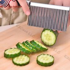Long Crinkle Veggie Potato Chip Cutter With Wavy Blade French Fry Kitchen Tool