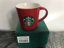 Starbucks 2016 Classic Demi Mug RED  New in Box 3 OZ SET