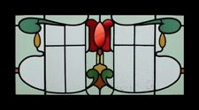 Rare English Art Nouveau Floral Beauty Antique Stained Glass Window