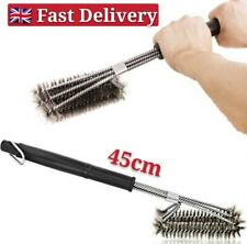 Barbecue Grill Cleaner 3 in 1 Steel Wire Heads BBQ Handle Cleaning Brush