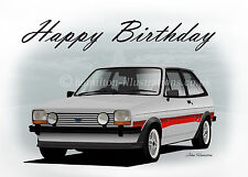 Ford Fiesta Mk1 Supersport  21st 40th 50th Birthday Greetings Card PERSONALISED