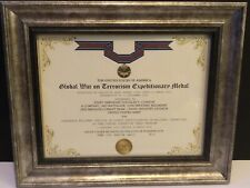 GWOT EXPEDITIONARY MEDAL COMMEMORATIVE CERTIFICATE w/Free Printing