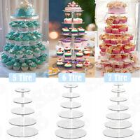 4/5/6/7 Tier Cake Rack Display Cake Stand Party Wedding Dessert Cupcake Holder