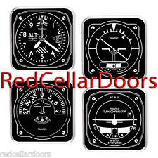 New TRINTEC Black & White Aviation Instrument Coaster Set of 4 Coasters