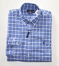 NWT Men's Ralph Lauren Casual Long-Sleeve Oxford Shirt Blue, White, S, Small