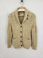 Denim & Supply Ralph Lauren Womens Cable Knit Shawl Cardigan Sweater XS Beige
