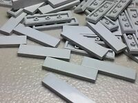 NEW LEGO 1X4 TILE LIGHT BLUISH GRAY (x50) 2431 Authentic FINISHING TILES