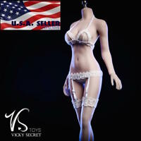 """1/6 Lace Bra Panties Stockings Lingeries Set For 12"""" PHICEN Female Figure ❶USA❶"""