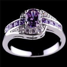 Ring (size 6) Women Halo Wedding Purple