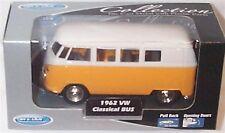 1962 VW Classic Bus Yellow  1-38 Scale  Mib
