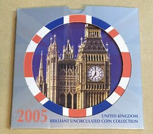 United Kingdom 2005 Brilliant Uncirculated Coin Collection Set