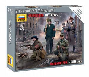 Zvezda 1/72 Figures Volkssturm - Berlin 1945 - Z6272
