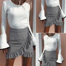 Womens Pencil Bandage High Waisted Bodycon Ladies Wrap Short Mini business Skirt