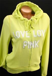 Victoria's Secret LOVE PINK Full Zip Hoodie Sweatshirt Lounge NWT