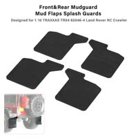 Front & Rear Mud Flaps Rubber Fender Mudguard for 1/10 RC TRAXXAS TRX-4 D110