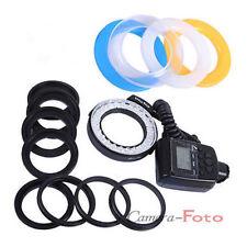 Ring Light Macro Flash para Cámara Canon Nikon DSLR 48 LED +8 Adaptador de Lente