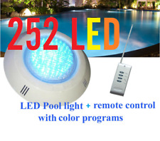 New 252 LED Pool Lights + Remote Control + Color program With Free Connector