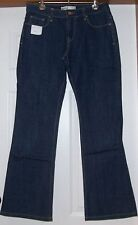 Ladies JEANS..SIZE 11R...Single Button Front....Mid Rise Bootcut...Indigo...NEW