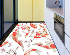 3D Fish Painting Living Room Kitchen Floor Stickers Removable Waterproof