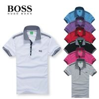 Men's fashion short sleeves polo shirt t-shirt mens summer tee shirt casual top