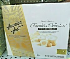HAWAIIAN HOST FOUNDER'S COLLECTION WHITE CHOCOLATE COVERED WHOLE MACADAMIAS NUT