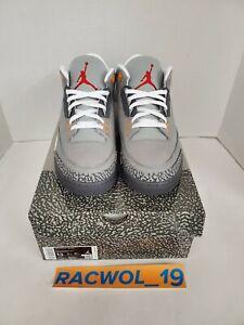 Air Jordan 3 Retro Cool Grey 2021 Men's Size 13 DEADSTOCK & AUTHENTIC