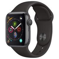 Apple Watch Series 4 GPS w/ 44MM Space Gray Aluminum Case & Black Sport Band